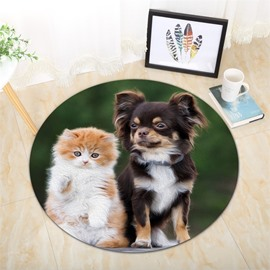 Cat And Dog Pattern Creative Environmental Friendly Waterproof Floor Sticker