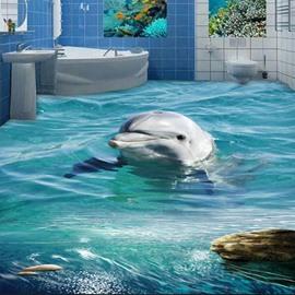 Dolphin and Sea Splicing 3D Waterfloor Floor Murals