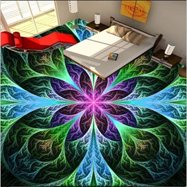 Colorful Delicate Flowers Pattern Home Decorative Waterproof Splicing 3D Floor Murals