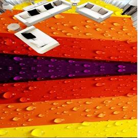 Colorful Strips Home Decorative Antiskid and Waterproof 3D Floor Murals