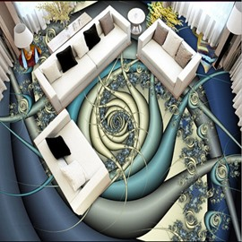 Abstract Three-dimensional Pattern Home Decorative Splicing 3D Floor Murals
