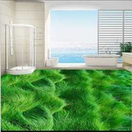 Awesome Waving Grass land Bathroom Decoration Waterproof 3D Floor Murals