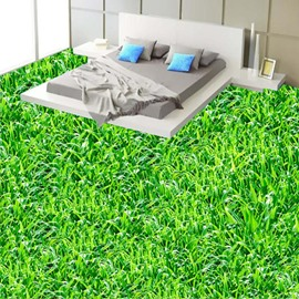 Lifelike Green Grass Land Home Decorative Splicing Waterproof 3D Floor Murals