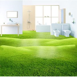 Green Three-dimensional Grass Land Design Decorative Waterproof 3D Floor Murals
