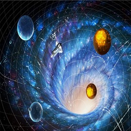Stunning Planets in Galaxy Pattern Home Decorative Waterproof 3D Floor Murals