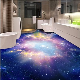 Sunlight and Galaxy Pattern Home Decorative Waterproof Splicing 3D Floor Murals
