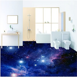 Magnificent Creative Galaxy Pattern Waterproof Splicing 3D Floor Murals