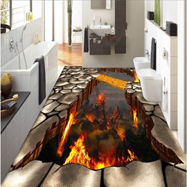 Creative Modern Design Volcano Pattern Nonslip and Waterproof 3D Floor Murals