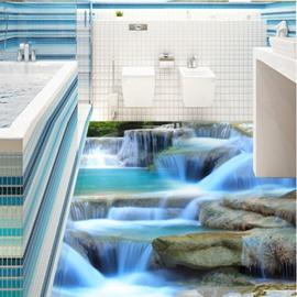 Modern Creative Design Limpid Stream Print Waterproof 3D Floor Murals