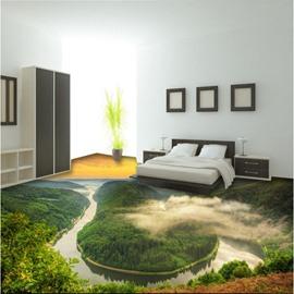 Magnificent Sunset Natural Scenery Print Nonslip and Waterproof 3D Floor Murals