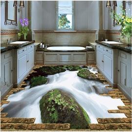 Natural Stream Pattern Nonslip and Waterproof Home Decorative 3D Floor Murals