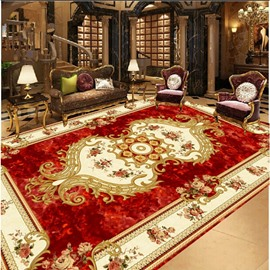 Luxurious Floral Prints 3D Waterproof Floor/Ceiling Murals