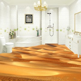 Creative Design Desert Pattern Nonslip and Waterproof 3D Floor Murals