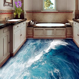 Grand Sea Wave 3D PVC Non-slip Waterproof Eco-friendly Self-Adhesive Floor Murals