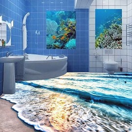 Dreamful Beach Fish 3D PVC Non-slip Waterproof Eco-friendly Self-Adhesive Floor Murals