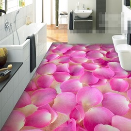 Vivid Flower 3D PVC Non-slip Waterproof Eco-friendly Self-Adhesive Floor Murals