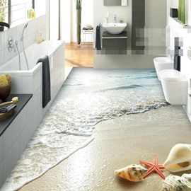 PVC 3D Dreamful Beach Non-slip Waterproof Eco-friendly Self-Adhesive Floor Murals