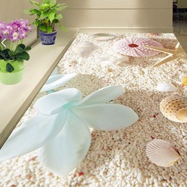 PVC Non-slip 3D Dreamful Beach Waterproof Eco-friendly Self-Adhesive Floor Murals