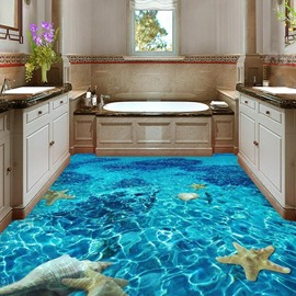 3D Starfish Non-slip Waterproof Eco-friendly Self-Adhesive Floor Mural