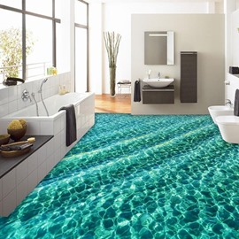 3D Green Sea Non-slip Waterproof Eco-friendly Self-Adhesive Floor Mural