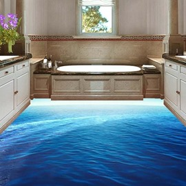 Beautiful Sea Surface PVC 3D Non-slip Waterproof Eco-friendly Self-Adhesive Floor Murals