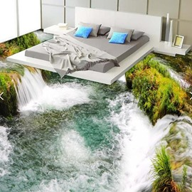 PVC 3D Grand Waterfall Non-slip Waterproof Eco-friendly Self-Adhesive Floor Murals
