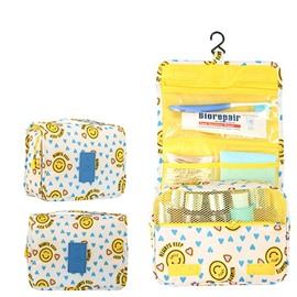 Yellow Sunflowers Hanging Toiletry Bag Cosmetic and Makeup Travel Organizer