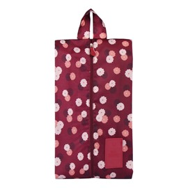 Claret Daisy Portable Waterproof Oxford Fabric Travel Shoe Bag with Zipper Closure