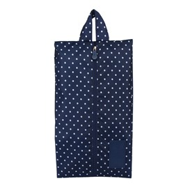 Dark Blue Spots Portable Waterproof Oxford Fabric Travel Shoe Bag with Zipper Closure