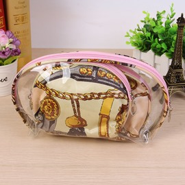 Yellow Half Moon 3-Pieces Travel Cosmetic Bags
