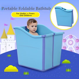 Foldable Baby Bathtub for Infants Through 12 Years