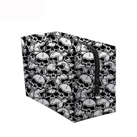 3D Portable Scary Skulls Printed PV Cosmetic Bag