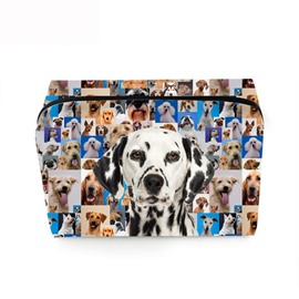 3D Portable Spotty Dog Printed PV Cosmetic Bag