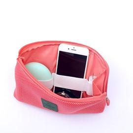 Zipper Reticular Shockproof Durable Cosmetic Bag