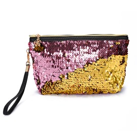 Sequined Mermaid Clutch Bag Evening Bag  Cosmetic Bag