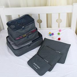 6Pcs Navy Blue Multi-Functional Waterproof Travel Storage Bags Luggage Organizers