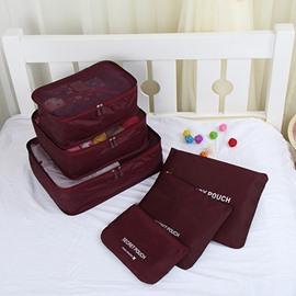 6Pcs Claret Thickening Multi-Functional Waterproof Travel Storage Bags Luggage Organizers