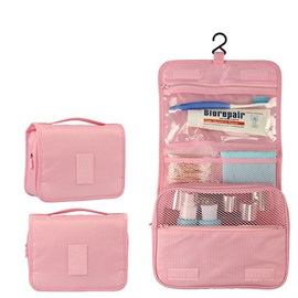 Pink Hanging Toiletry Bag Cosmetic and Makeup Travel Organizer