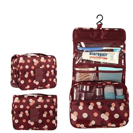 Claret Daisy Hanging Toiletry Bag Cosmetic and Makeup Travel Organizer