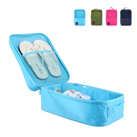 4 Colors Travel Waterproof Shoe Bag Organizer Storage for 3 Pairs of Shoes
