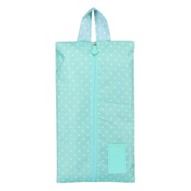 Blue Spots Portable Waterproof Oxford Fabric Travel Shoe Bag with Zipper Closure