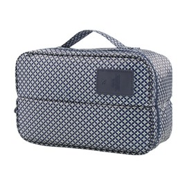 Dark Blue Stars Multi-Functional Travel Underwear and Socks Organizer Bag