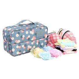 Blue Daisy Multi-Functional Travel Underwear and Socks Organizer Bag