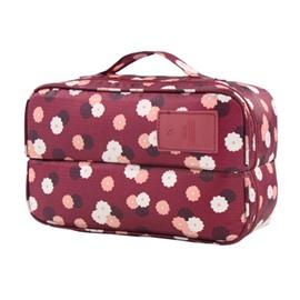 Claret Daisy Multi-Functional Travel Underwear and Socks Organizer Bag
