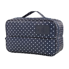 Dark Blue Spots Multi-Functional Travel Underwear and Socks Organizer Bag