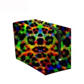 3D Portable Colorful Leopard Printed PV Cosmetic Bag