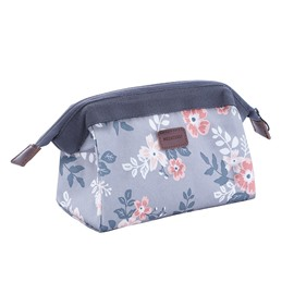 Flamingo Flower Large Capacity Waterproof Cosmetic Bag
