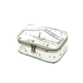 PVC Translucent Large Capacity Portable Travel Cosmetic Bag