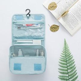 276T Reversible Twill Waterproof Portable Travel Cosmetic Bag