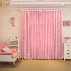 Decoration and Blackout Polyester Fresh Style Sheer and Lining Curtain Sets